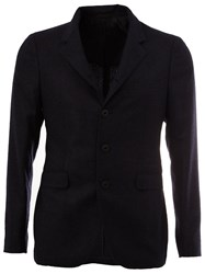 Tagliatore Three Button Blazer Blue