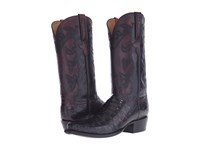 Lucchese Gy1050.73 Black Cherry Cowboy Boots Burgundy