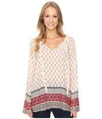 Sanctuary Mori Boho Top Filigree Patchwork Women's Clothing White