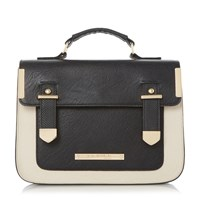 Head Over Heels Hula Colour Block Satchel Black