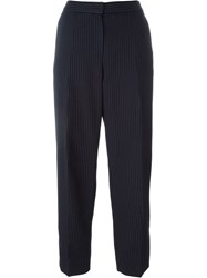 Emporio Armani High Waisted Trousers Blue