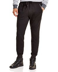 Michael Kors Leather Trim Jogger Pants Black