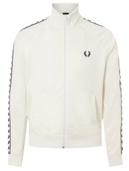 Fred Perry Sports Authentic Laurel Tape Track Jacket Snow White