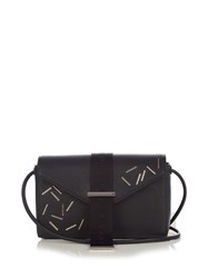 Christopher Kane Devine Small Leather Cross Body Bag Black Silver
