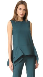 Victoria Beckham Sleeveless Drape Top Alpine Green