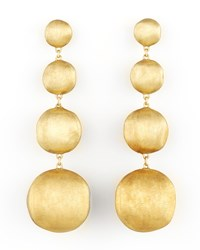Africa Yellow Gold Four Drop Earrings Marco Bicego Brown