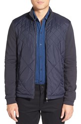Boss Men's 'Shepherd' Diamond Quilted Jacket Navy