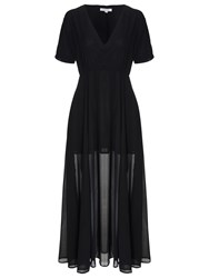 True Decadence Tie Waist Maxi Dress Black