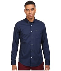 Rvca That'll Do Oxford L S Federal Blue Men's Long Sleeve Button Up
