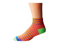 Wrightsock Coolmesh Ii Quarter Stripes 3 Pack Orange Blue Green Quarter Length Socks Shoes