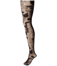 Pretty Polly House Of Holland Camoflauge Tights Black Hose