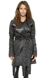 Norma Kamali Reversible Narrow Coat Black