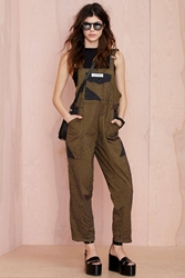 Nasty Gal Vintage Kenzo Super Sonic Striped Overalls