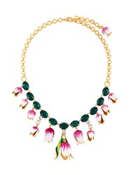 Dolce And Gabbana Tulip Drop Necklace Green