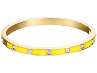 Kate Spade Set In Stone Enamel Stone Hinged Bangle Clear Yellow