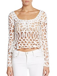 Stone Cold Fox Colorado Crop Top White