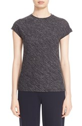Theory Women's 'Ginala Woodsen' Cap Sleeve Knit Top Dark Charcoal