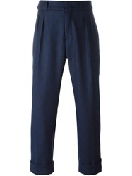 Pence Loose Fit Tailored Trousers Blue