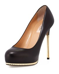 Valentino Mini Rockstud Leather Platform Pump Black
