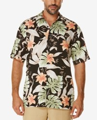 Cubavera Men's Tropical Short Sleeve Shirt Jet Black