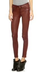 Rag And Bone The Leather Skinny Pants Washed Cognac