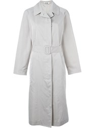 Jil Sander Belted Trench Coat Nude And Neutrals