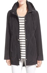 Women's Sam Edelman Hooded Drop Tail Utility Jacket Black