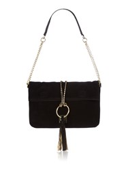 Biba Foldover Shoulder Bag Black