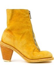 Guidi Front Zip Boots Yellow And Orange