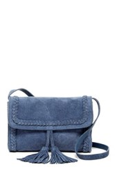 Shiraleah Emma Mini Suede Crossbody Bag Blue