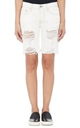 Nsf Jane Distressed Shorts White