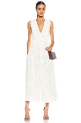 Zimmermann Riot Paisley Tuck Silk Jumpsuit In White Floral