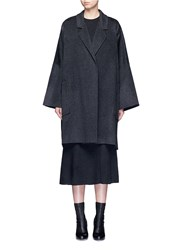 Helmut Lang Oversized Double Faced Wool Cashmere Cape Coat Grey