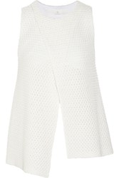 Thakoon Addition Knitted Cotton Blend Top White