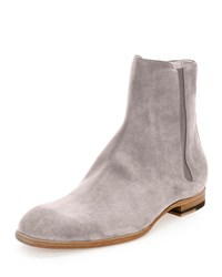 Maison Martin Margiela Suede Chelsea Boot Light Gray Light Grey