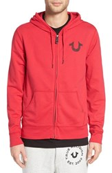 True Religion Men's Brand Jeans Zip Hoodie Ruby Red