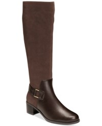 Aerosoles After Hours Tall Boots Women's Shoes Dark Brown Combo
