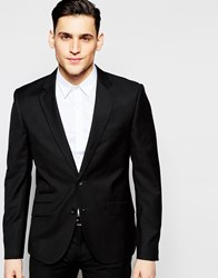 Antony Morato Suit Jacket With Stretch In Super Slim Fit Black