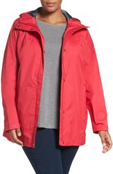 Columbia Plus Size Women's 'Splash A Little' Modern Classic Fit Waterproof Rain Jacket Ruby Red