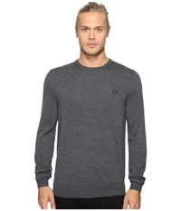 Fred Perry Classic Crew Neck Sweater Graphite Marl Men's Sweater Gray