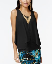 Thalia Sodi Woven Split Front Necklace Top Only At Macy's