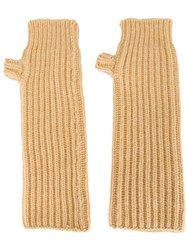 Marni Fingerless Gloves Nude And Neutrals