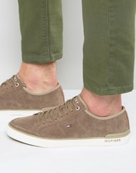 Tommy Hilfiger Harrington Suede Trainers Brown