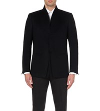 Kilgour Brushed Wool And Cashmere Blend Jacket Dark Navy