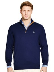 Ralph Lauren Polo Golf By Zip Neck Long Sleeve Jumper French Navy