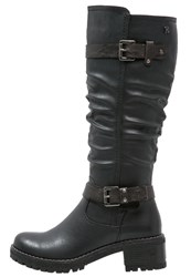 Refresh Cowboy Biker Boots Black