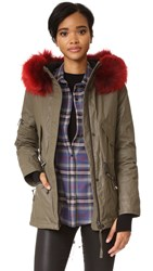 Sam. Mini Hudson Parka Army Red