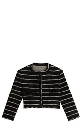 Alaia Dotted Cardigan Black