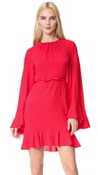 Giambattista Valli Cape Back Dress Red