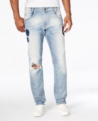 Guess Men's Slim Fit Tapered Leg Jeans Merger Wash